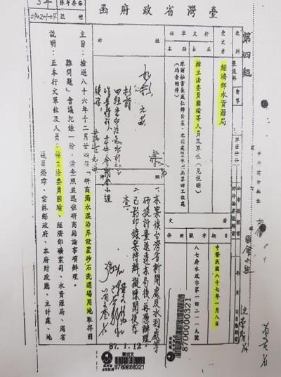 爆李佳芬家族盜採砂 黃國昌秀公文嗆韓:是忘記還是害怕想起來?