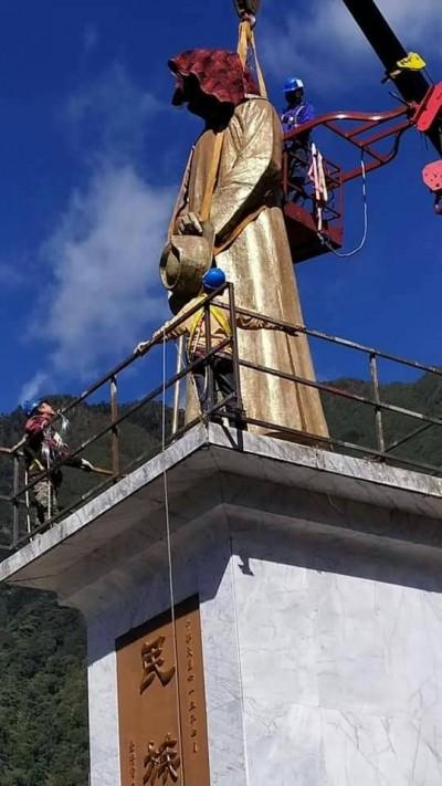 去威權化!德基電廠43年蔣介石銅像完成拆除