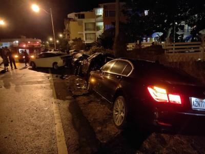 墾丁車禍 BMW大7女駕駛撞保時捷 5車同遭殃