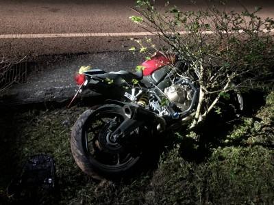 酒測值零 重機騎士夜騎陽金公路自摔急救不治