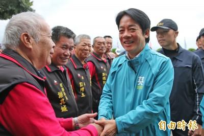 韓稱民調支持蔡英文 賴清德:支持者要堅定信心直到勝選