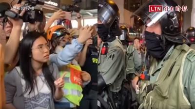 女議員單挑逼退港警 港民:沒有投錯票!