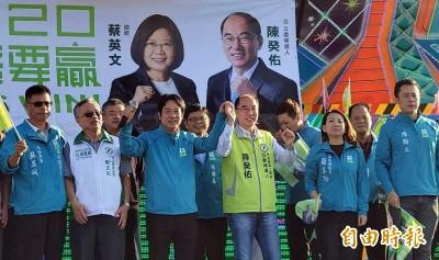 為「台灣戰警」陳癸佑站台 賴清德︰國共和平協議是騙人的議題