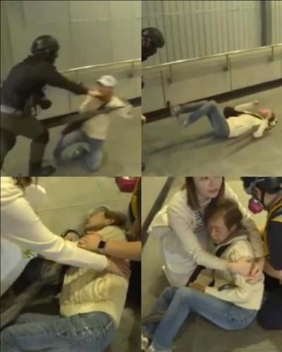 香港人反抗》婆婆跪地求饒遭警暴力推倒 港警司:不排除「無心」之過
