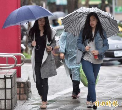 何時出太陽?週四全台又濕又冷 雨下到週五