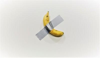 用膠帶把香蕉貼在牆上! 這個藝術品售價369萬元