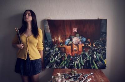 Pepe蛙狂粉出手! 俄國美女畫家重現港人佔領立法會