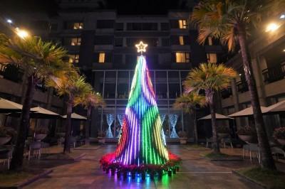 全台最耀眼 江南渡假村光雕聖誕樹超夢幻