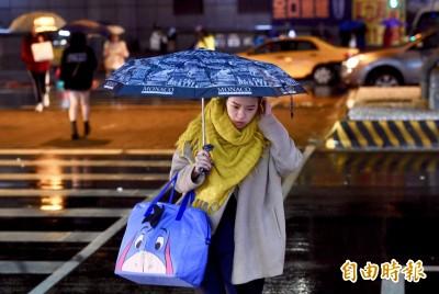 5縣市豪大雨特報 晚起新一波冷氣團最冷下探10度