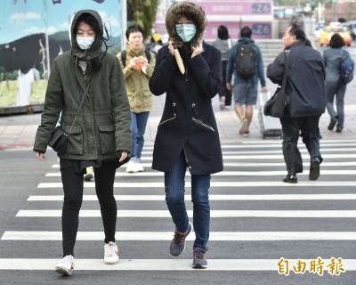 急凍!氣象局首發低溫燈號 5縣市恐下探10度以下