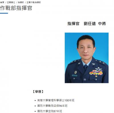 獨家》掌握台海空防第一線  劉任遠接任空軍作戰指揮官