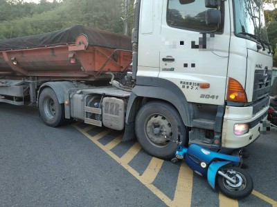北橫公路與砂石車碰撞 騎士重傷送醫不治