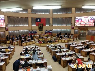 新北議會總預算案審查觸礁  朝野火爆衝突