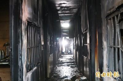 縱火7死》火勢蔓延迅速 消防員:木材裝潢幾乎都是易燃物
