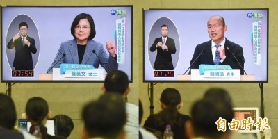 總統政見會》韓國瑜造謠被小英狂電 這結果讓網友大驚