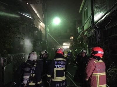 寲電線走火 中市火警蔓延3戶民宅