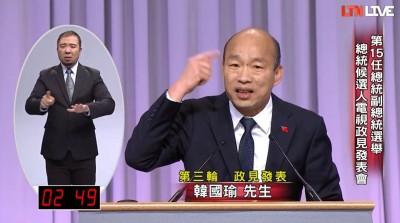 總統政見會3》韓國瑜稱絕不原諒酒駕的人 鄉民噓爆:自我打臉