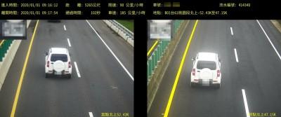 西濱快速道路區間測速照相上路元旦單日違規961件