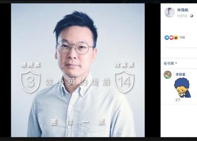 挺小英!民進黨明下午3點14分發動同步換臉書大頭貼