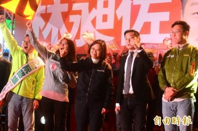 林昶佐萬華造勢 小英站台:告訴全世界台灣不接受一國兩制!