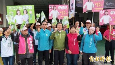 選前最後衝刺 卓榮泰、陳其邁接力陪同蔡培慧車隊掃街