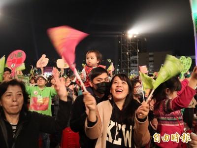 民進黨選前之夜台中晚會 2萬熱情民眾不願離場