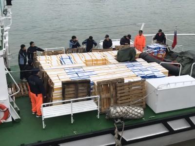 東引查獲走私6575公斤中國漁貨 移送基隆關偵辦