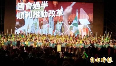 立委選舉重演2016歷史 濁水溪以南一片綠油油