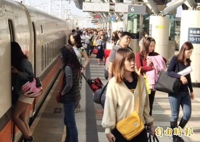 疏散返鄉投票人潮 高鐵今加開3班全自由座列車