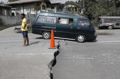 菲律賓火山附近地區發生地裂 專家:岩漿正在上升
