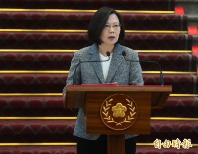 無法排除戰爭可能性 蔡英文:中國若侵台將付出巨大代價