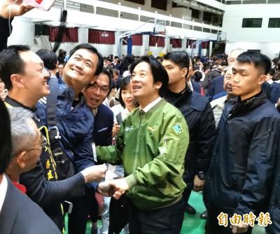 獲台南鄉親投票力挺 賴清德幫小英轉達「定不負所託」