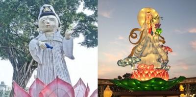 屏東觀世音花燈電爆高雄! 網友:藝術和法會的差別