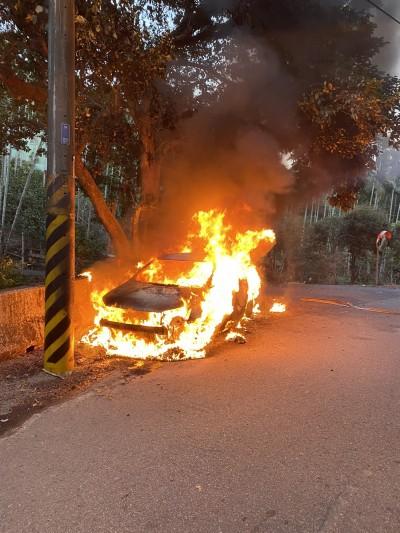 台中潭子火燒車意外 死者疑為職業軍人