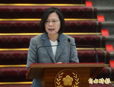 響應世界和平日 蔡英文致函教宗:是中國威脅讓兩岸難對話