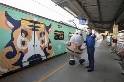 新竹動物園推動物彩繪列車 加開台鐵基隆苗栗區間車