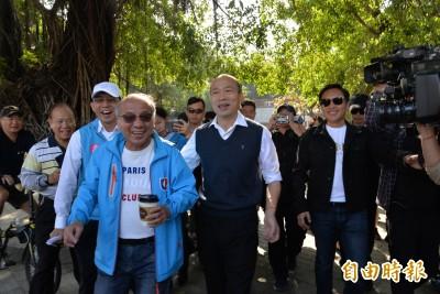 韓國瑜蓮池潭走春訪察 要媒體「別問黨主席、政治議題」