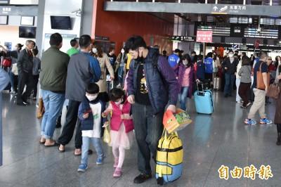 武漢肺炎》人人自危 高鐵站出現滿滿「口罩客」