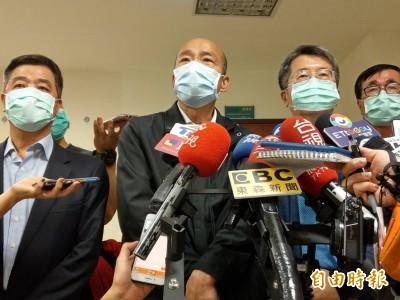 武漢肺炎》高雄疫情中心一級開設 韓國瑜銷假任指揮官