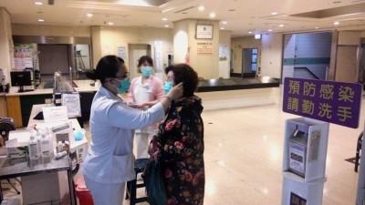 武漢肺炎》高雄一級防疫 醫院全面管制進出者戴口罩、量體溫