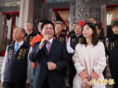 林佳龍:媽祖指示 洪慈庸繼續在地服務