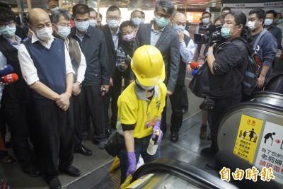 韓國瑜搭捷運視查防疫 呼籲高雄市民全部戴口罩