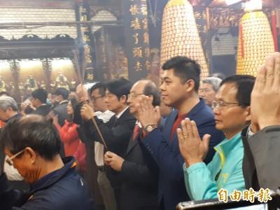 賴清德竹市拜廟發紅包 籲中國支持台灣加入世衛組織