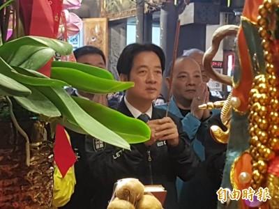 武漢肺炎》控制疫情源頭 賴清德:幫助中國等於幫助台灣