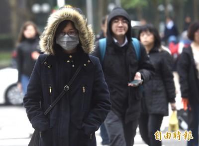 寒流南下各地整天溼冷  月底台南以北低溫僅8度