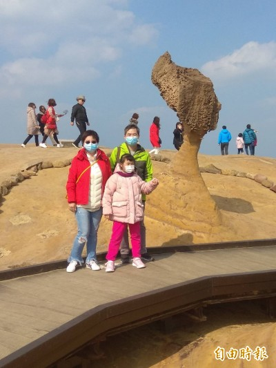 武漢肺炎加上天氣濕冷 野柳地質公園春節遊客少23.5%