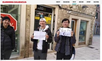 武漢肺炎》台灣旅客赴東歐 自製掛牌「非中國人」爆紅!