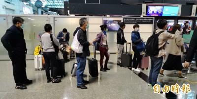 武漢肺炎》觀光局:中國旅行團已全數離境 僅5人暫留台隔離