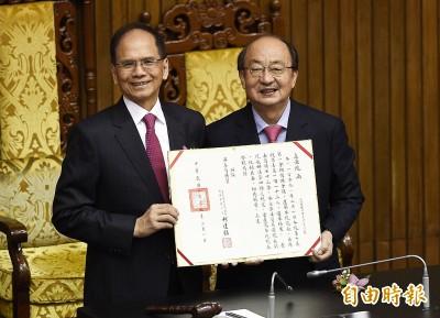 游錫堃宣誓就職立法院長 將研議下降參政年齡