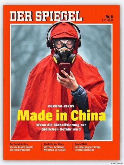 武漢肺炎》「中國製造病毒」登上《明鏡》封面 中國使館轟歧視